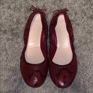Cole Haan snake skin flats